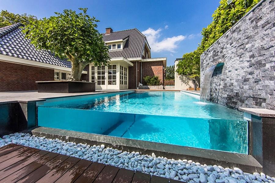 piscina cristal casa
